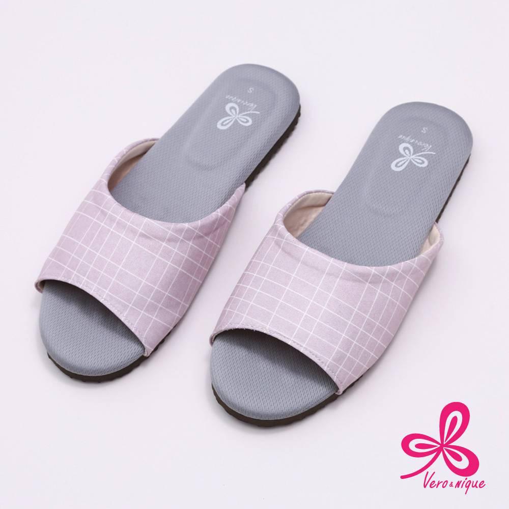 維諾妮卡 96022生活品味乳膠室內拖鞋-粉M