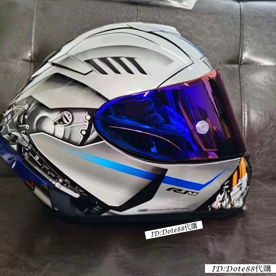 SHOEI X14雅馬哈電源鍵 R1m60週年烤漆摩托車頭盔 全盔 男女汽機車騎士用品 防霧賽車機車四季安全帽ABS材質