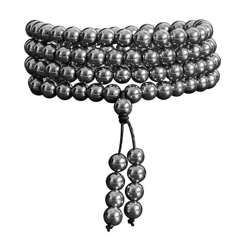 真品新款太赫茲108顆手鍊男女鈦赫茲多圈手鍊項鍊送長輩飾品禮物