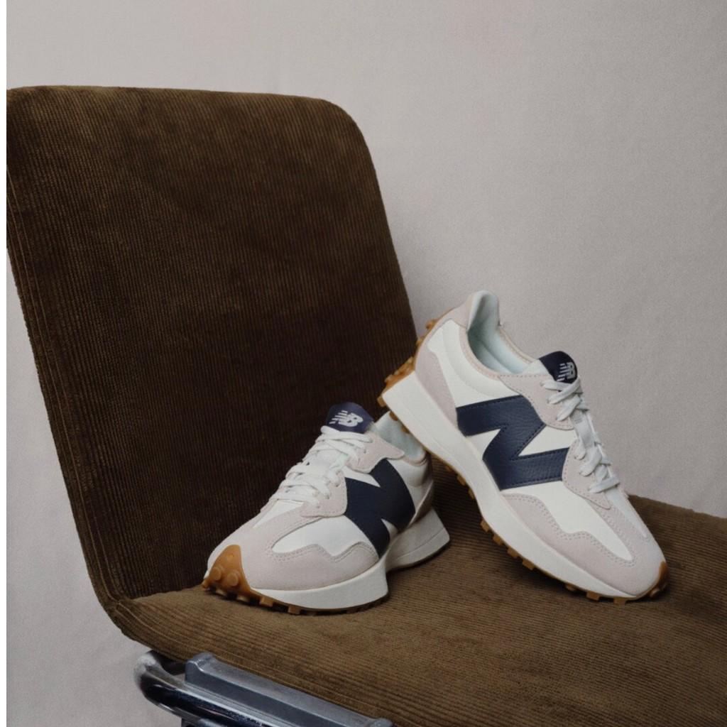 (現貨) New Balance 327 WS327KB 白色 皮革款