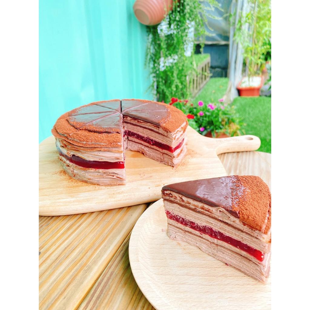 爍咖啡''戀愛'' 巧克力覆盆子千層蛋糕 手做甜點 生日蛋糕 慶生 蛋奶素 減糖配方