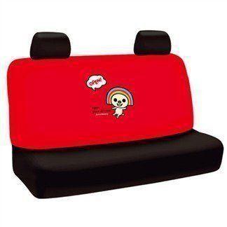 權世界@汽車用品 OPEN小將 Dream系列 汽車大後座椅套 紅色 OP-10212
