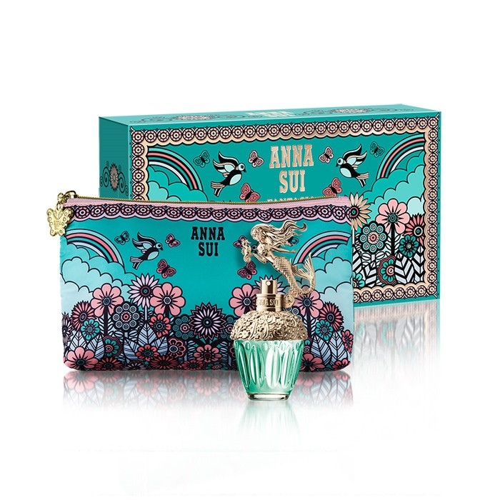 ANNA SUI 美人魚童話禮盒 (淡香水30ml+愛情鳥化妝包) 附原廠紙袋 SP嚴選家