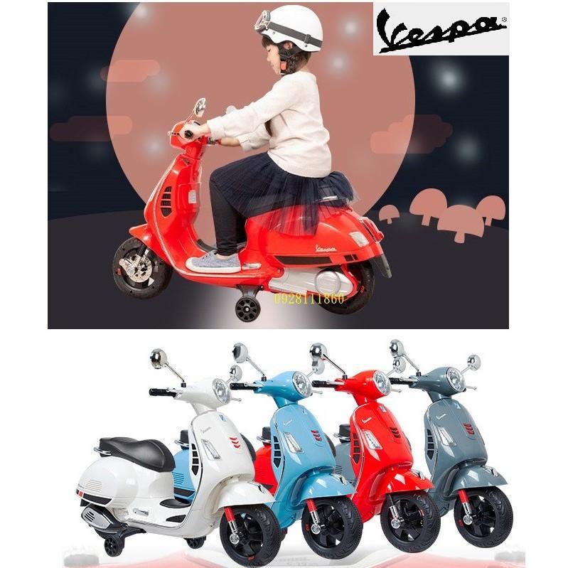 t偉士牌原廠授權 Vespa GTS Super Spor兒童電動機車充電電動速克達摩托車兒童騎乘電動車兒童超跑801