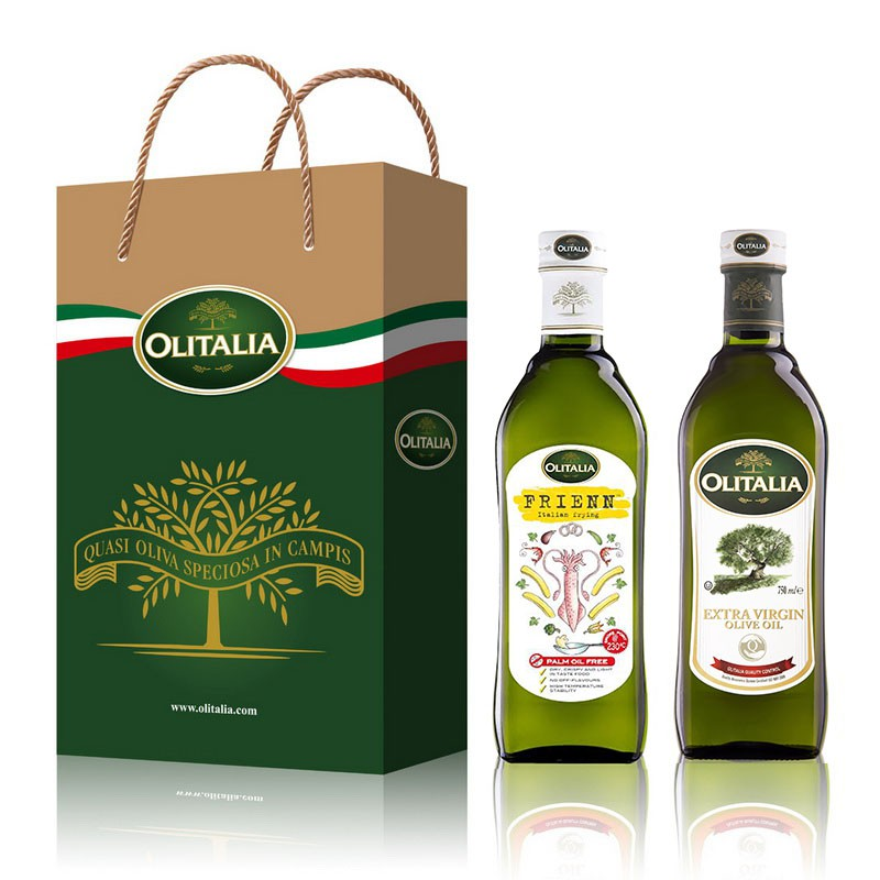 Olitalia奧利塔特級初榨橄欖油+高溫專用葵花油禮盒組(750mlx2瓶)