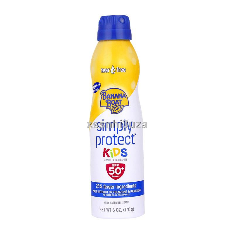 Banana Boat/香蕉船凈護兒童噴霧SPF50+170g高倍防曬兒童孕婦可用