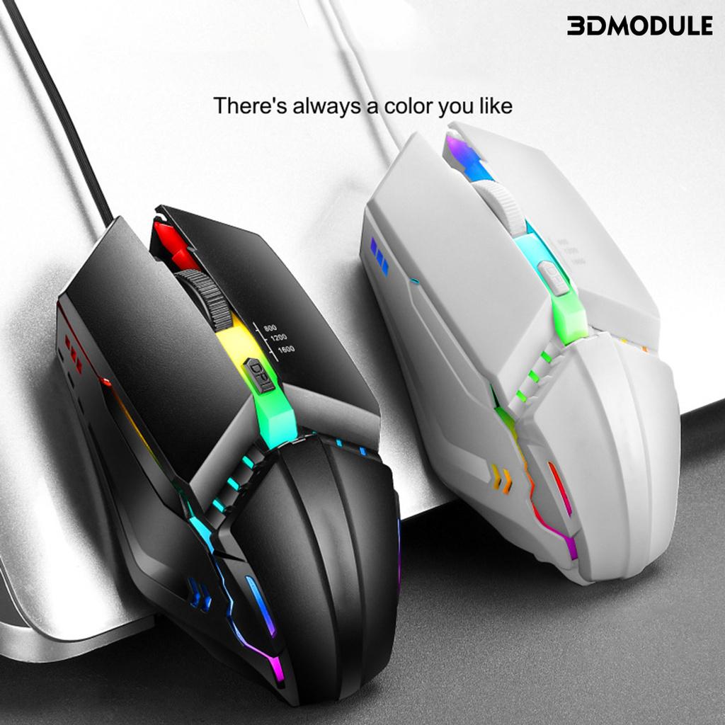 【時光閣】☞ OP-40炫酷七彩有線發光電競166DPI遊戲滑鼠
