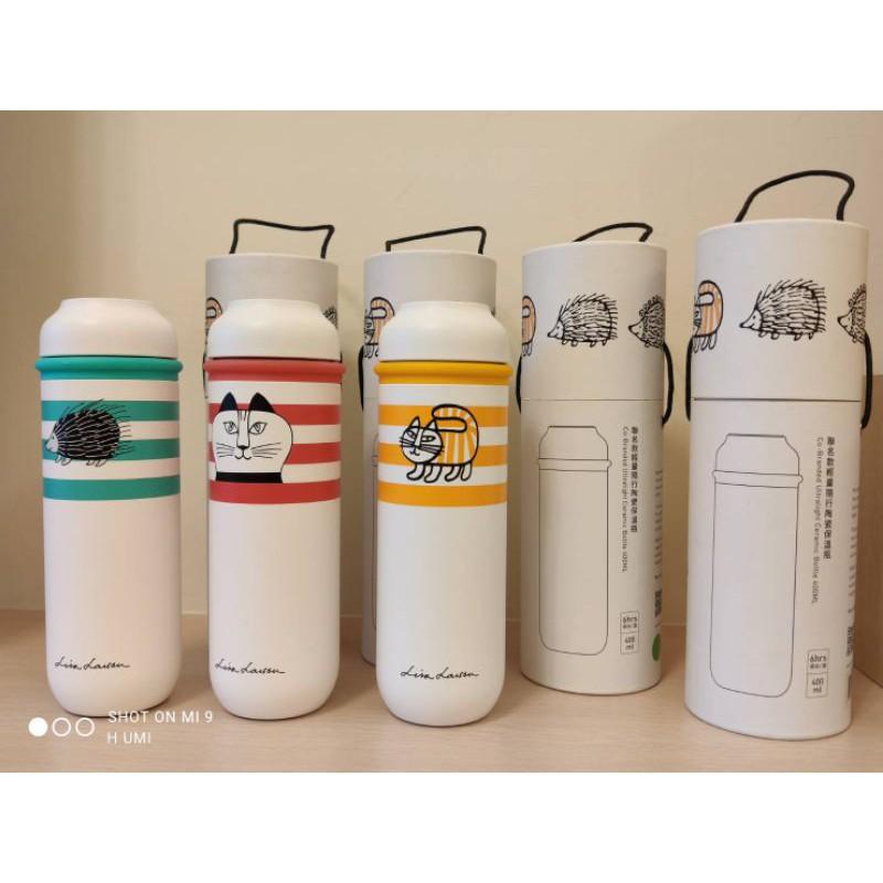 現貨 WOKY(沃廚) Lisa Larson麗莎 品牌設計聯名款 輕量隨行 全陶瓷 保溫瓶 400ml 紅黃綠三色