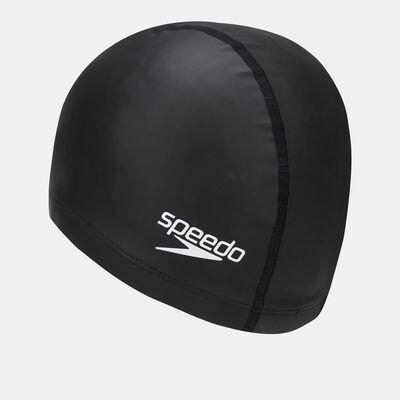 speedo 成人合成泳帽 ultra pace cap 黑色