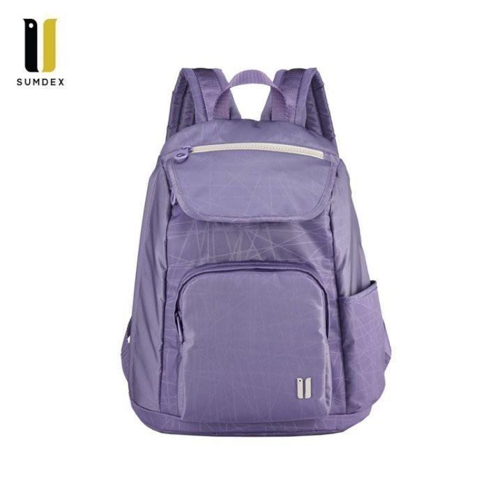 【SUMDEX】 樂遊防盜空間後背包 NOA-625PH 紫色