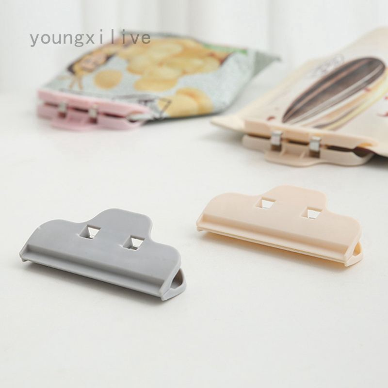 Youngxilive家用食品食品密封夾塑料袋密封夾奶粉茶零食袋密封夾