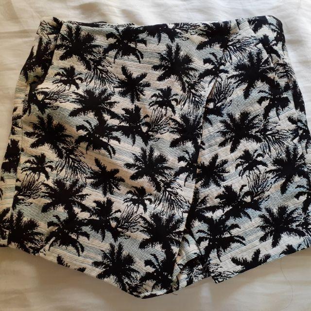 TOPSHOP 天空藍 棕櫚樹 褲裙