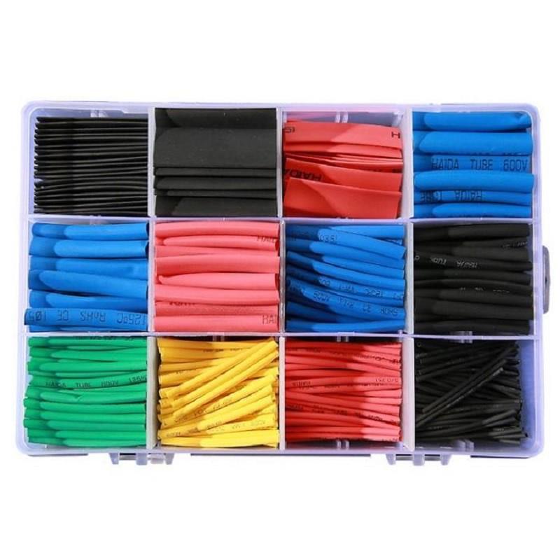 熱縮管SG586(560pcs盒裝) 彩色熱縮管套裝組合接電神器KIM免焊熱縮套管防水連接器 低溫焊錫環