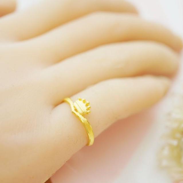純金戒指【Queen 公主】黃金女生戒指 女生尾戒 9999純金