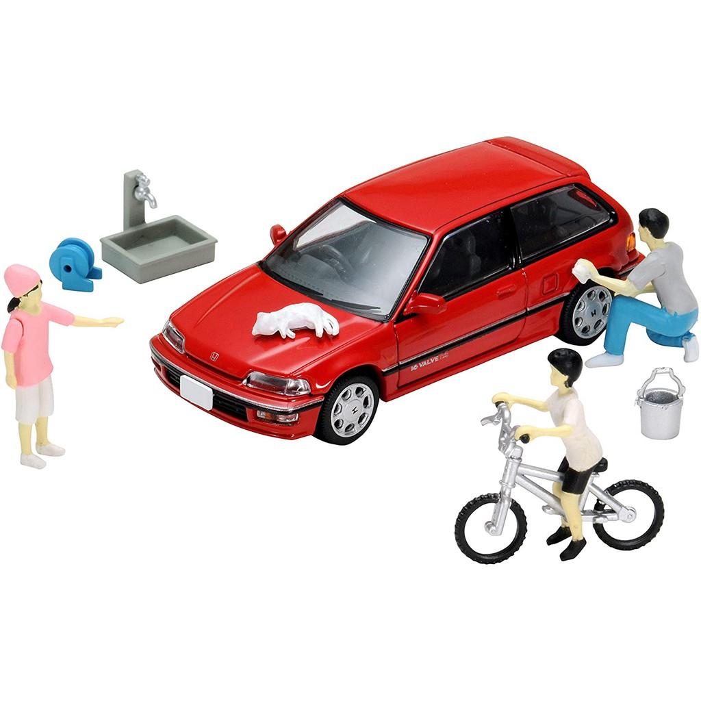 🔰花男宅急店 ✅現貨【全新盒裝】Tomytec 1/64 洗車場景組 多美 場景組 內含 Honda Civic 小車
