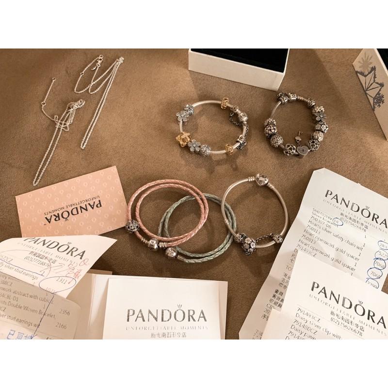 Pandora 潘朵拉 925銀 手鍊 蛇鏈 串飾 二手 新光購入