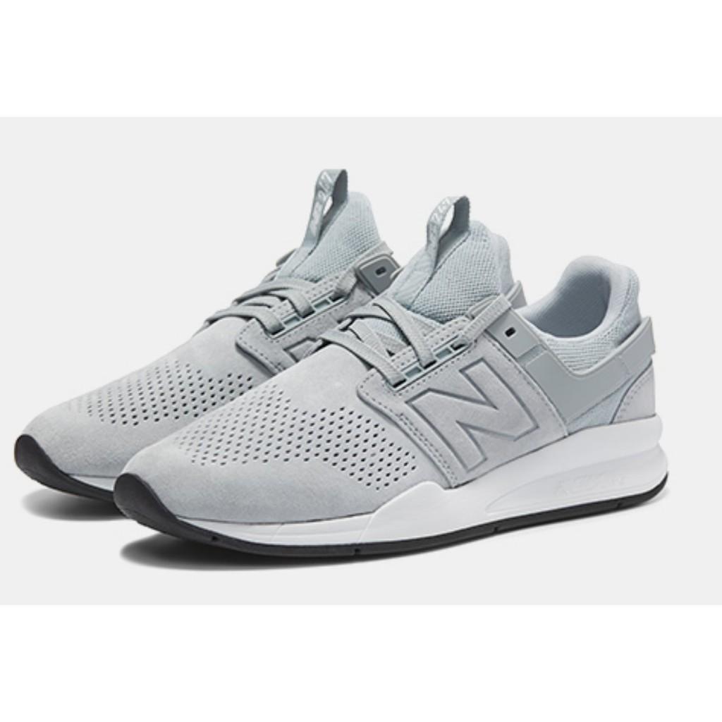 現貨 iShoes正品 New Balance 247系列 情侶鞋 淺灰 麂皮 運動 復古 休閒鞋 MS247PG D