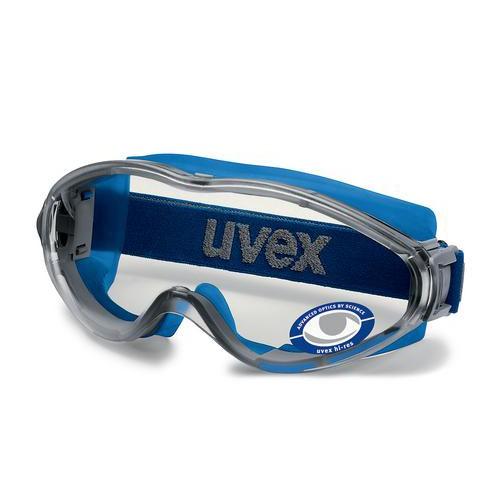 ◆工安便利購◆ 德國 UVEX 9302系列 防化學噴濺護目鏡 代理商貨贊助(鬆緊頭帶+矽膠頭帶+眼鏡腳)全包款
