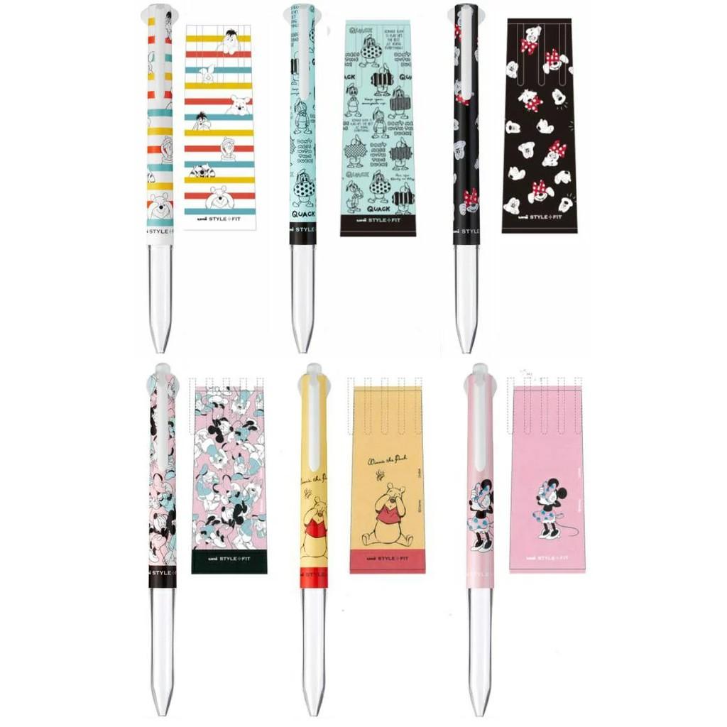 [日本帶回] 2021最新款 數量限定 uni 三菱 Style Fit 3色 / 4色筆管 筆芯另售 迪士尼 小熊維尼