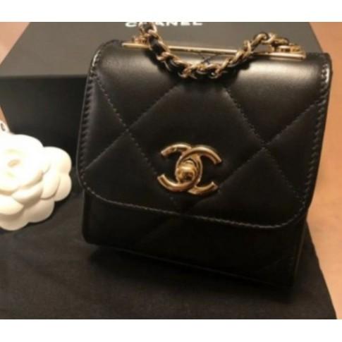 橋北一號店正品Chanel Mini Trendy CC 雙C扣菱格小方包 羊皮 A81633 小號 鏈條卡包大菱格W