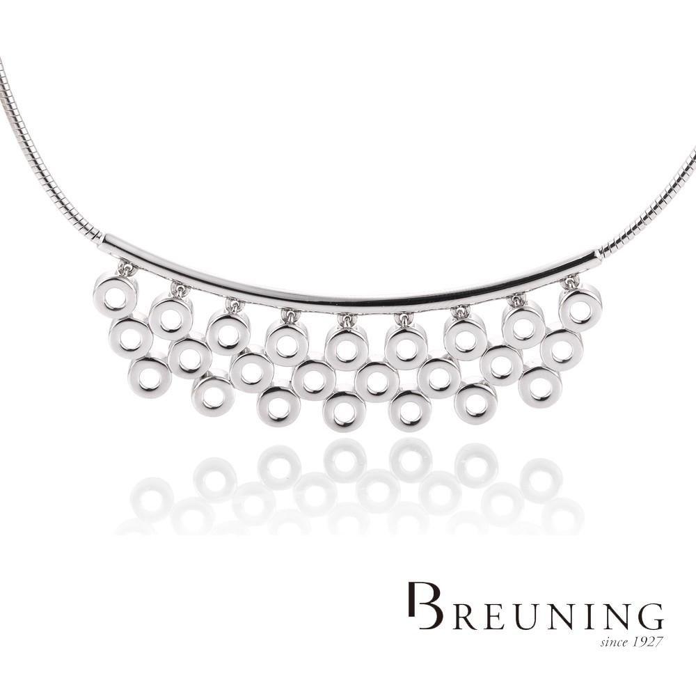 【德國 Breuning】925純銀 圓形排列項鍊
