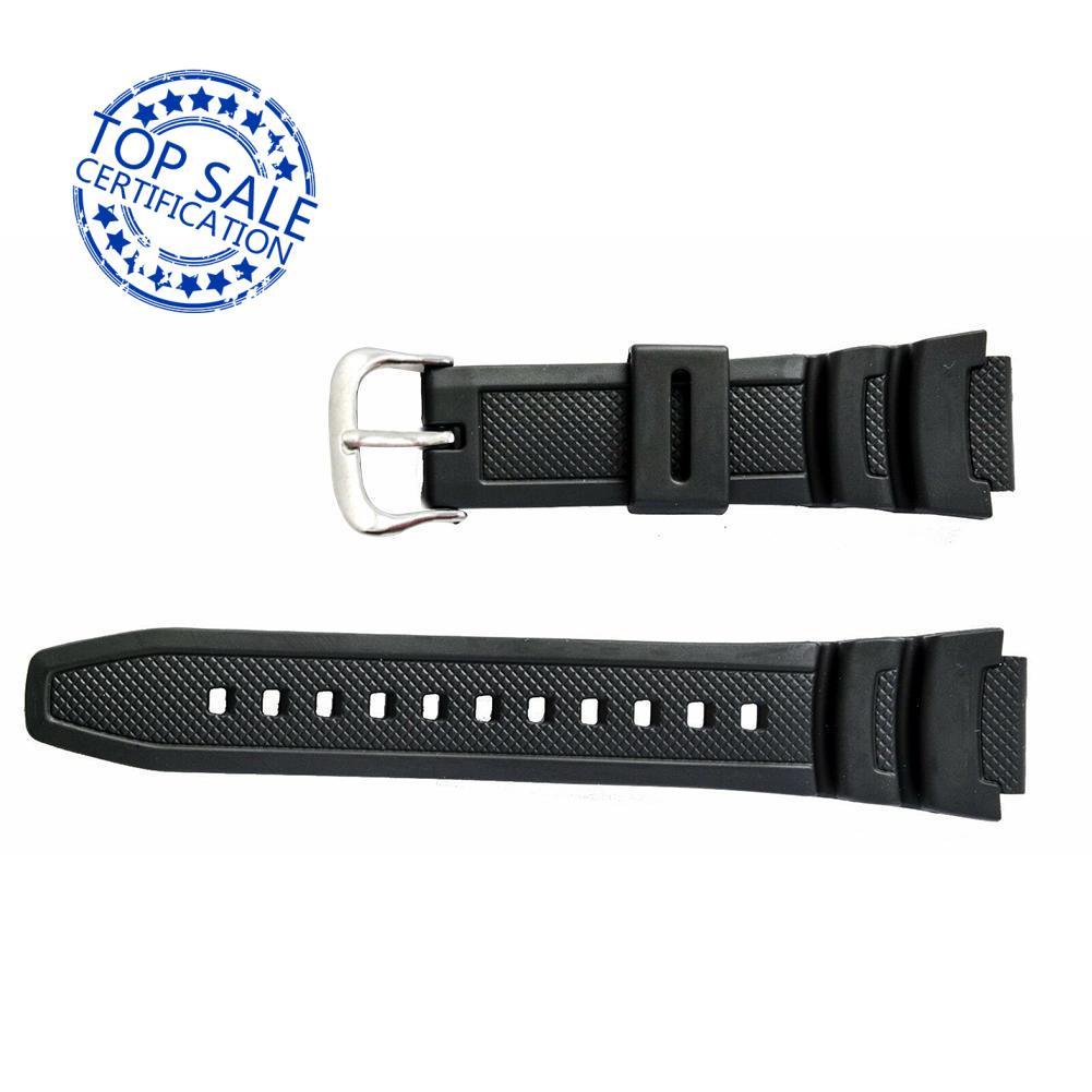 原裝卡西歐手錶帶, 用於雙傳感器 SGW 100 SGW 錶帶 100 橡膠 1V 黑色 M6N8