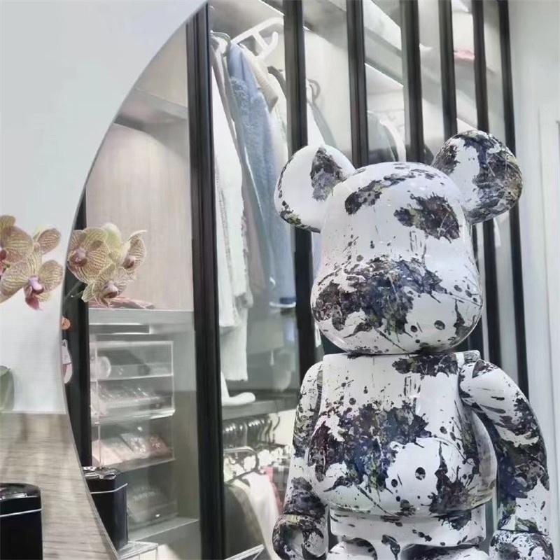 -#北歐 #進口 現貨BE@RBRICK潑墨三代暴力熊100%+400% 1000%玩具公仔禮手辦潮玩
