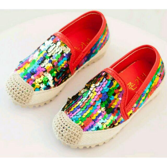 彩色亮片懶人鞋