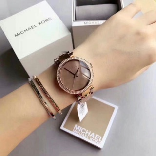 【Michael Kors】MK6426/ 魅力時尚晶鑽腕錶彩貝x玫瑰金/ 39mm/ MK正品女款手錶/ 附購證/ 有保固 高雄市