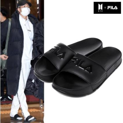 KURI.KR🐈韓國代購🇰🇷 FILA BTS拖鞋 DRIFTER拖鞋 黑色