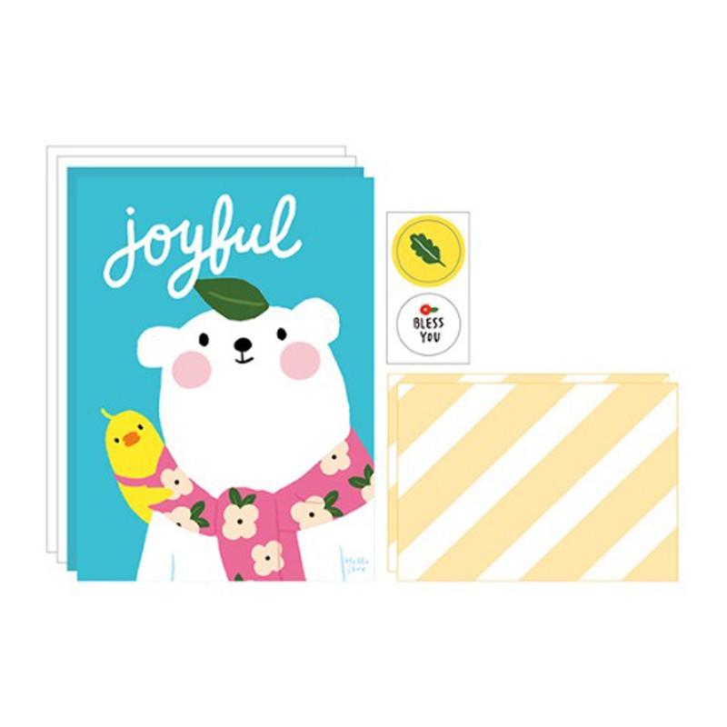 哈囉珍系列 插畫風信紙信封組(03.Joyful)