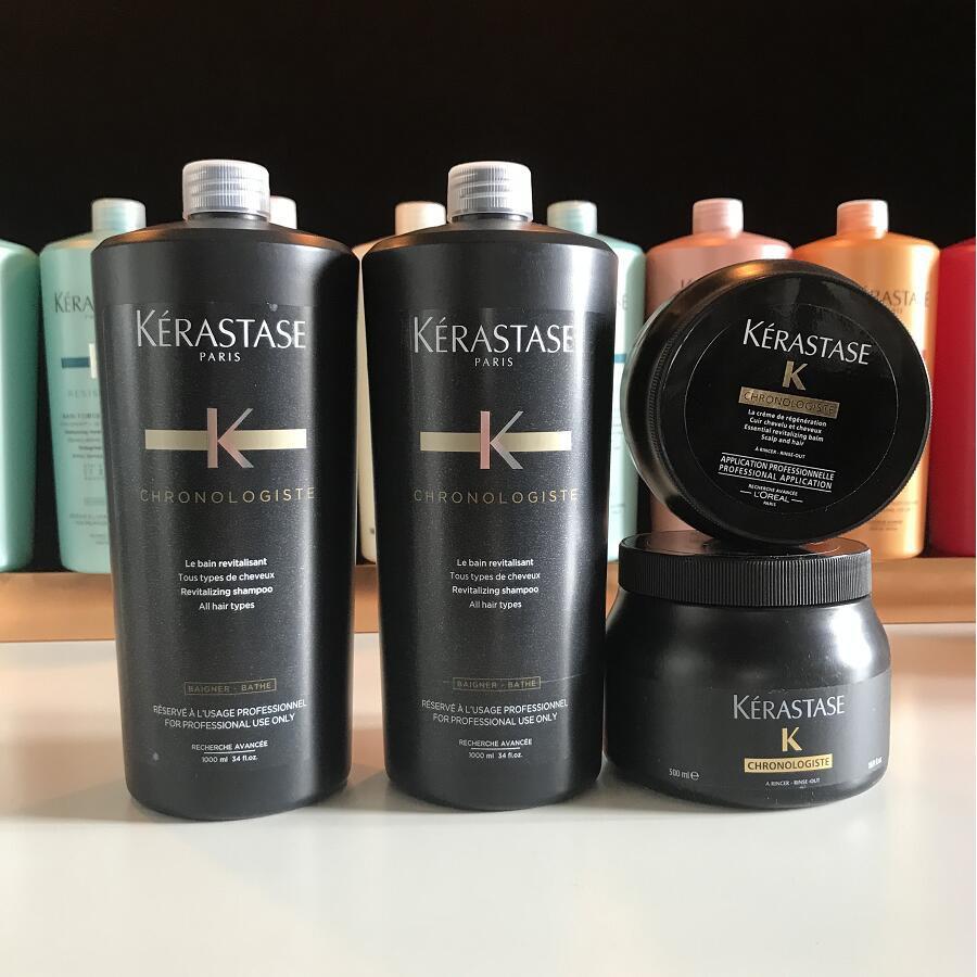 KERASTASE 卡詩 魚子醬髮浴 黑鑽逆時洗髮精 髮浴  髮膜  1000ml