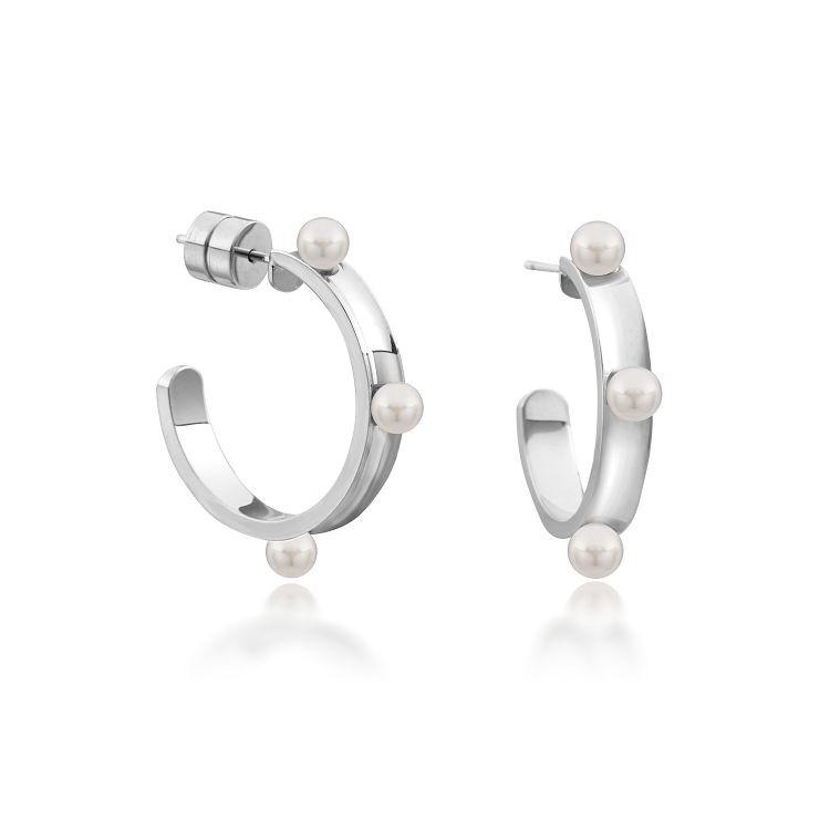 MAJORICA BÉJART 耳環 3 mm 白色圓形珍珠