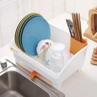 日式瀝水碗架 碗碟滴水架 角架 塑膠 可排水 碗盆收納 置物架 瀝水架 碗盤架 廚房置物架  廚具