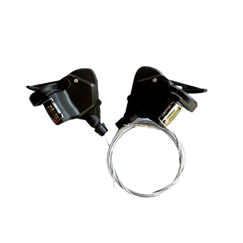 microSHIFT TS38 3*7速前變速把手(黑色)[03000540]