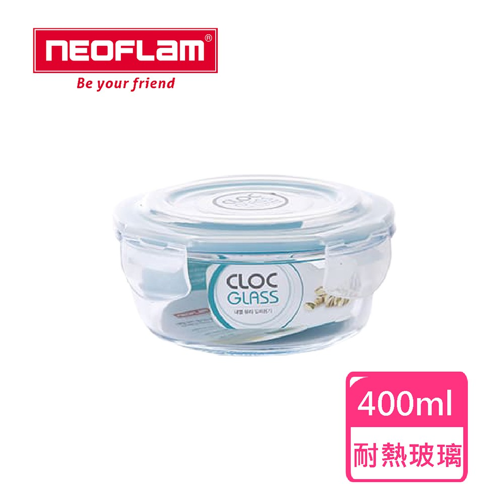 NEOFLAM 耐熱玻璃保鮮盒-400ml