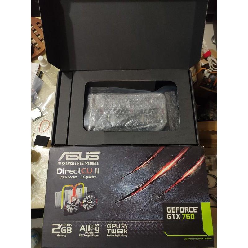 ASUS 華碩 7代 高階 GTX 760 DDR5 2G 版本 獨顯 電腦 遊戲 顯示卡 N社 nividia