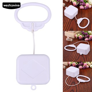 👶新寵兒母嬰店👶拉線繩音樂盒白色DIY兒童床鈴搖鈴玩具禮物