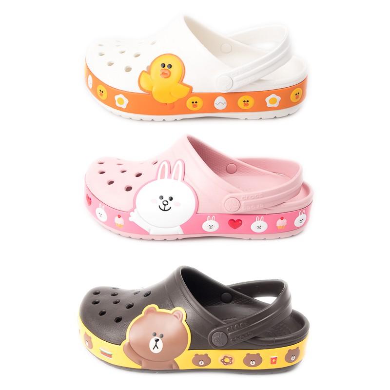 Crocs 中性鞋 LINE聯名 莎莉 熊大 兔兔 卡駱班 洞洞涼鞋 洞洞鞋 休閒涼鞋