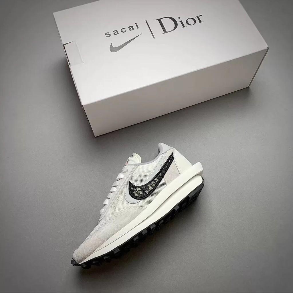 正品 AD-Nike x Sacai x Dior 聯名 20新款 獨家首發 白灰 雙溝設計 現貨+預購