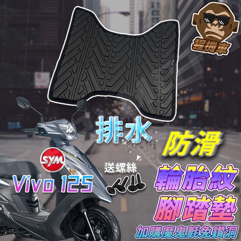 【現貨】活力125 腳踏墊 活力 125 VIVO125 活力腳踏墊 機車腳踏墊 SYM 三陽機車 排水腳踏墊