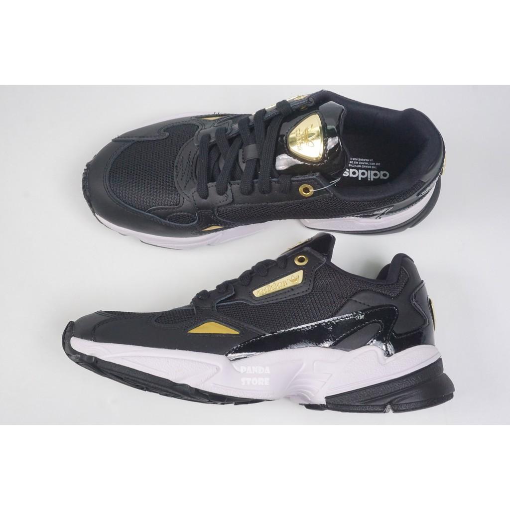 ADIDAS ORIGINALS FALCON 復古 老爹鞋 EF4988 黑金 女鞋