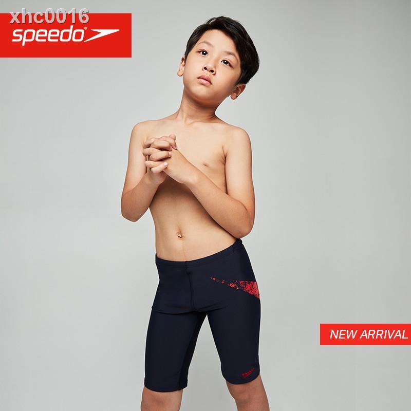 現貨299免運✖❆Speedo/速比濤男童標志印花及膝泳褲貼合舒適兒童泳褲男水陸兩用