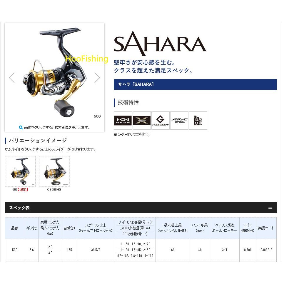 SHIMANO 特小型SAHARA500型捲線器
