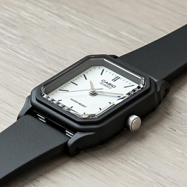 卡西歐手錶女casio LQ-142-7E 小黑錶時尚學生考試簡約小方塊女錶