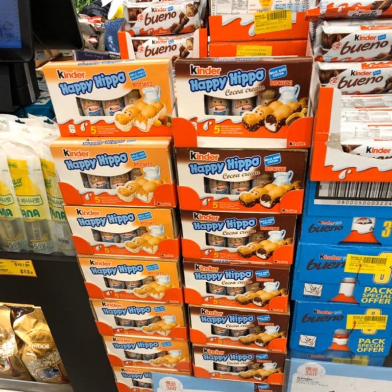 (香港直購)台灣香港天天出貨 私訊可議 現貨免運費 健達河馬巧克力 香港直寄 可以混搭