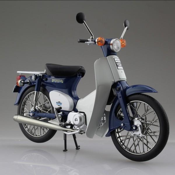 青島 1/12 Honda Super Cub 50 藍/綠色 塗裝完成 萬年東海