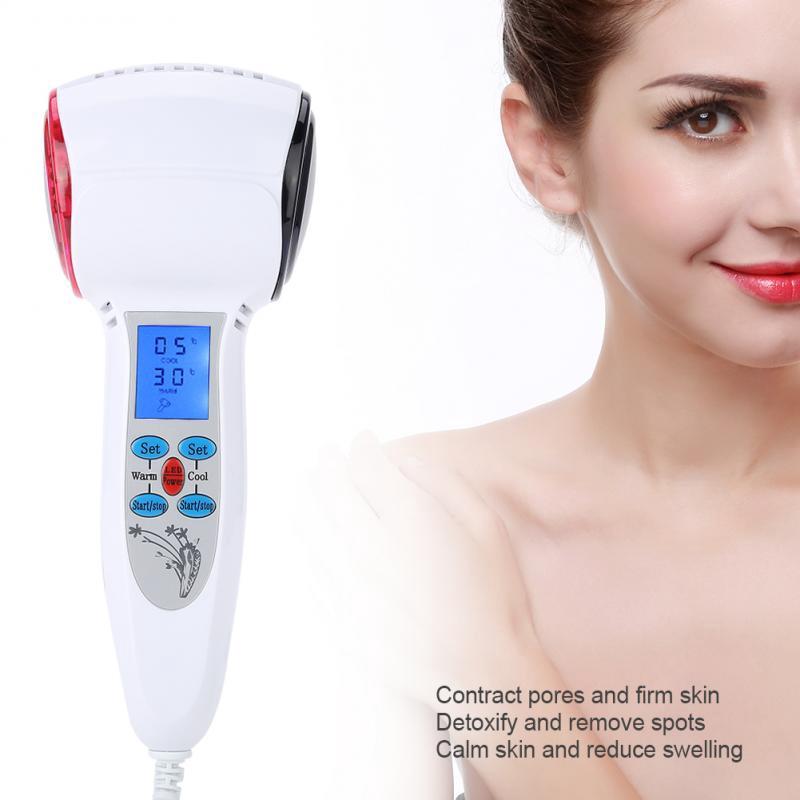 森林2種冷熱臉部美容儀裝置按摩器美容工具臉部緊繃緊緻按摩機