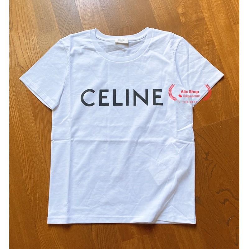 Celine 女款 印刷Logo短袖T恤。