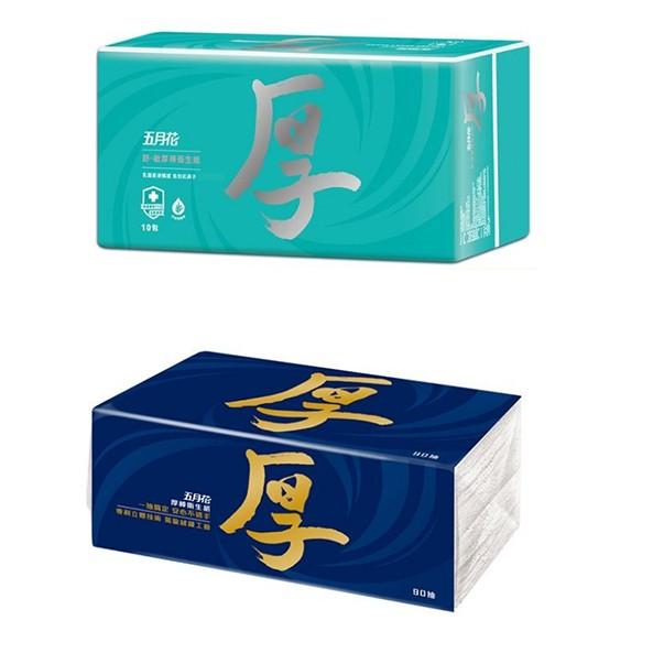 【堆堆樂雜貨店】╭☆現貨++五月花厚棒抽取式衛生紙 五月花舒敏厚棒衛生紙 60抽/包 33.31 51